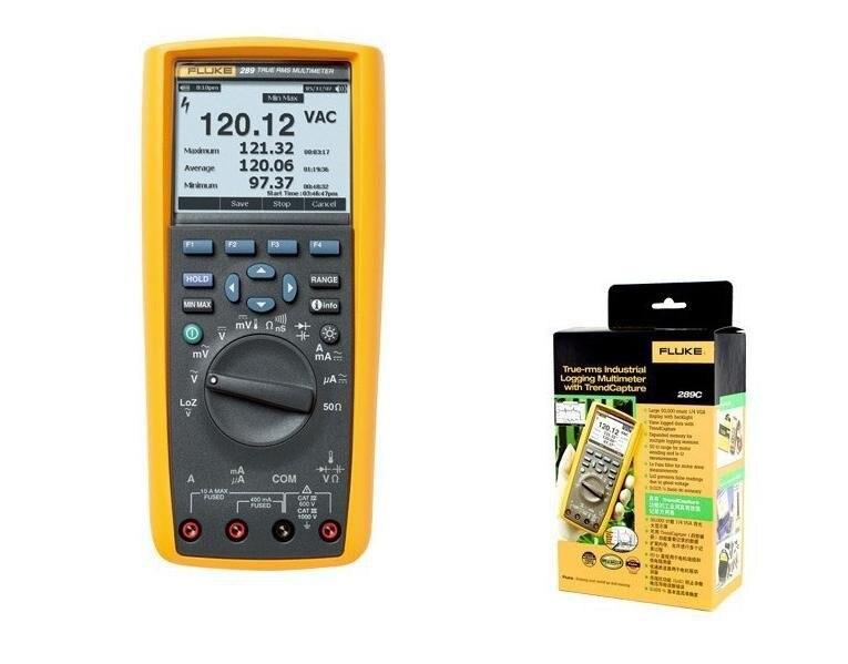 Fast arrival Fluke F289C Multimeter True-rms Industrial Logging with TrendCapture tester owon b35t multimeter with true rms measurement tl809 fluke test leads tlp20157 b35ttlp20157