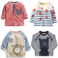 Minion 2016new marca de moda de algodón de alta calidad de manga larga camiseta de los muchachos de bebé kids2y-7y niño remata camisetas camisetas para niñas