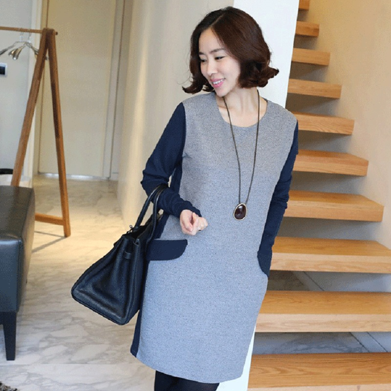 new spring/autumn womens dresses maternity dresses pregnancy sweater maternity autumn clothing 16845