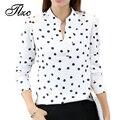 Tlzc nueva señora de la llegada v-cuello ocasional camisas tamaño sml divertido imprimir mujeres moda blanco blusas de manga larga tops