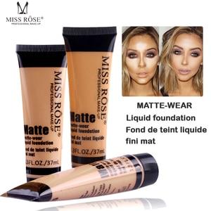 Professional maquiagem base Long Lasting Concealer Waterproof Whitening Miss Brand Face Base Liquid Foundation Makup(China)