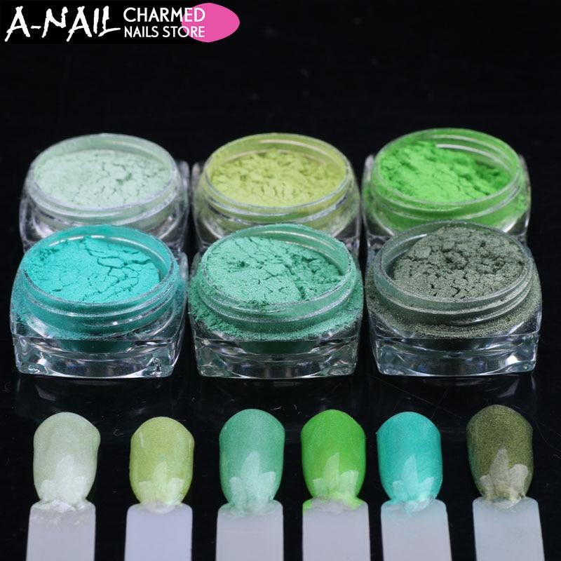 Schönheit & Gesundheit SchöN 6 Gläser/set Fluoreszenz Wirkung Nagel Glitter Leuchtstoff Farbe Pulver Pigment Nagellack Staub Uv Gel Nagel Dekoration Zubehör