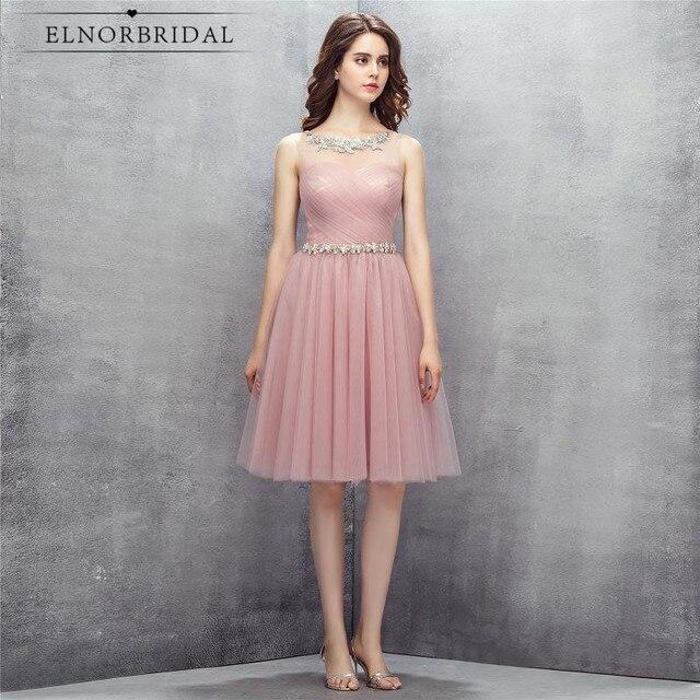 c76f6ed3ac Rosa pura baile De graduación Vestidos cortos 2019 Vestido De Festa Curto  ocasión especial fiesta vestidos