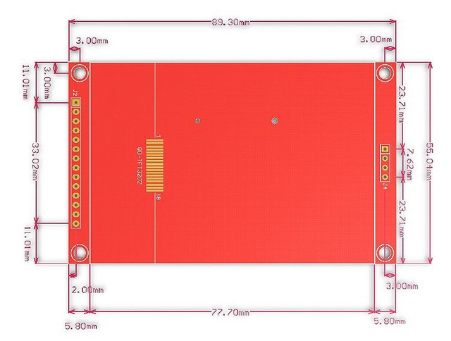 3.2 inch 320*240 SPI Serial TFT LCD Module Display Screen with Touch Panel Driver IC ILI9341 for MCU 3