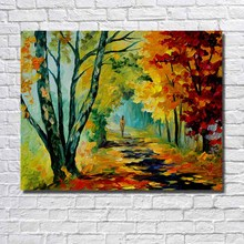 Modern landscape oil painting canvas font b wall b font art painting for restaurant font b