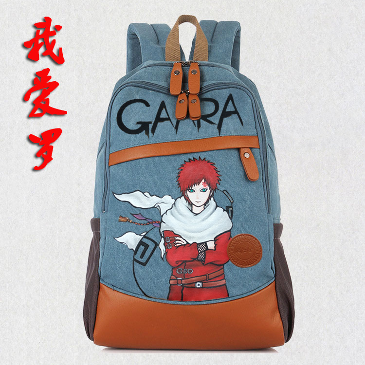 Anime Naruto Cosplay Student bag college wind shoulder bag men and women backpack graffiti canvas bag