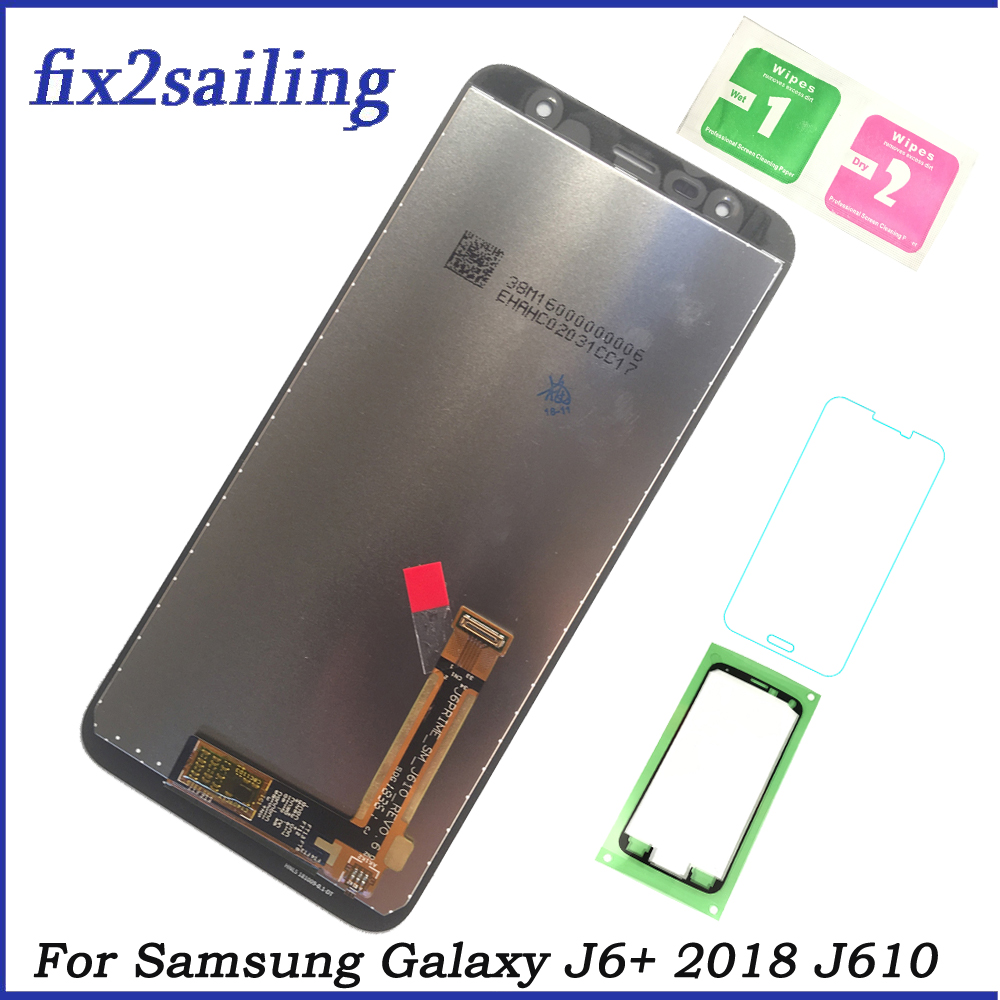 Super AMOLED lcds For Samsung J6+ 2018 J610F SM-J610FN LCD Display Touch Screen Digitizer Assembly replacement parts for J610 Super AMOLED lcds For Samsung J6+ 2018 J610F SM-J610FN LCD Display Touch Screen Digitizer Assembly replacement parts for J610