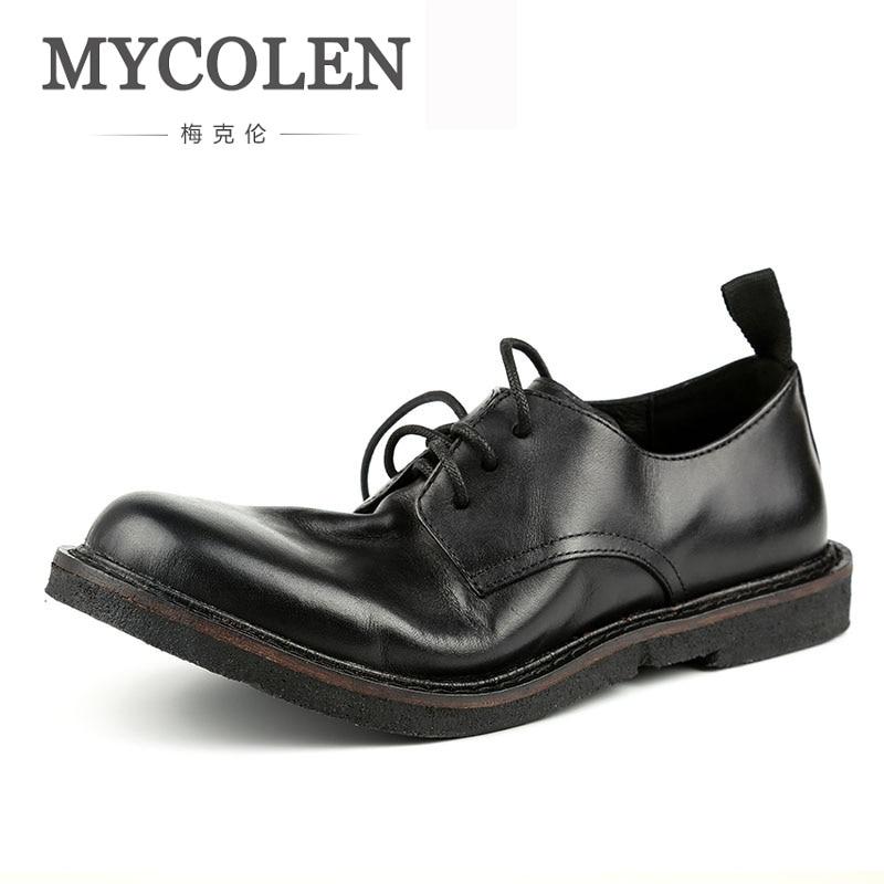 MYCOLEN Men Formal Shoes Winter Men Dress Shoes Luxury Designer Brand Men Leather Shoes Men Classic Business Herenschoenen все цены