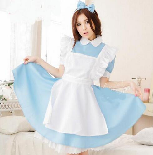 New Alice In Wonderland Party Cosplay Costume Anime Sissy Maid Uniform Sweet Lolita Dress Adult Halloween Costumes For Women