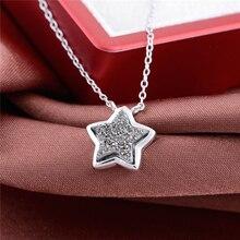 41.5 cm collar de estilo estrella colgante de plata auténtica plata de ley 925 mujeres de la manera envío gratis gw fine jewelry fnet003h30