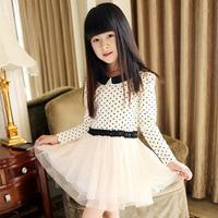 Factory Direct 2013 Autumn Korean Fashion Children S Clothing Girls Big Virgin Cotton Polka Dot Princess