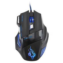 CAA-3200 DPI 7 Button LED Optical USB Wired Gaming Mouse Mice computer mouse For Pro Gamer