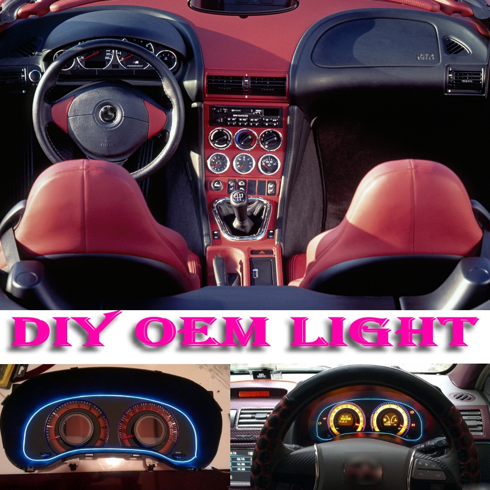 medium resolution of car atmosphere light flexible neon light el wire interior light decorative decals tags inside tuning for bmw z3 e36 e36 7