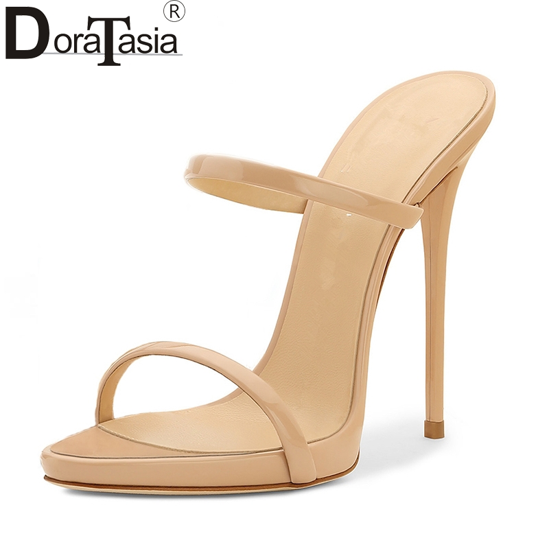 DoraTasia 2018 Hot Sale Brand Large Size 34-43 Fashion Thin High Heels Women Pumps shoes Sexy Party Trendy Shoes Woman Mules doratasia embroidery big size 33 43 pointed toe women shoes woman sexy thin high heels brand pumps party nightclub