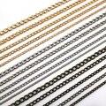 ( Минимальный заказ 5 $ ) 1 м ( 39.5 дюймов ) / серия 2 мм DIY бронза покрытием черный сеть 6 цветов ожерелье сеть ювелирных изделий для изготовления ювелирных изделий,фурнитура для бижутерии