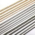 1 M (39.5 pulgadas)/Lot 2mm DIY Plateado Bronce Negro cadena 6 colores Collar de Cadena de Joyería hallazgos para hacer la joyería