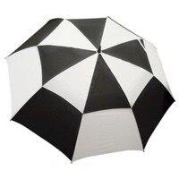 34In Large Umbrella Golf Rain Umbrella Windproof Double layer Auto open Long Handle Umbrella