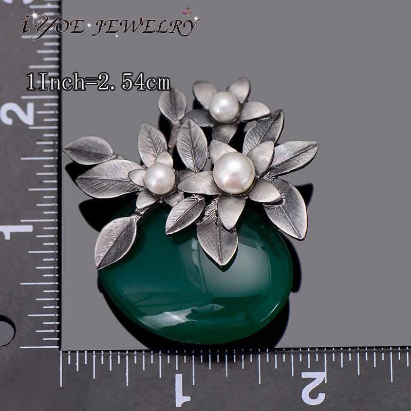 Iyoe Gaya Retro Logam Antik Bouquet Bros Wanita Baru Fashion Simulasi Mutiara Bunga Bros Pin Perhiasan Antik