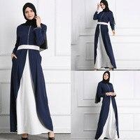Elegant Muslim Party Dubai Maxi Dress fashion 2019 Muslim Arab Pearl Maxi Robe New Women Abaya Kaftan Long Dress JilbabY57