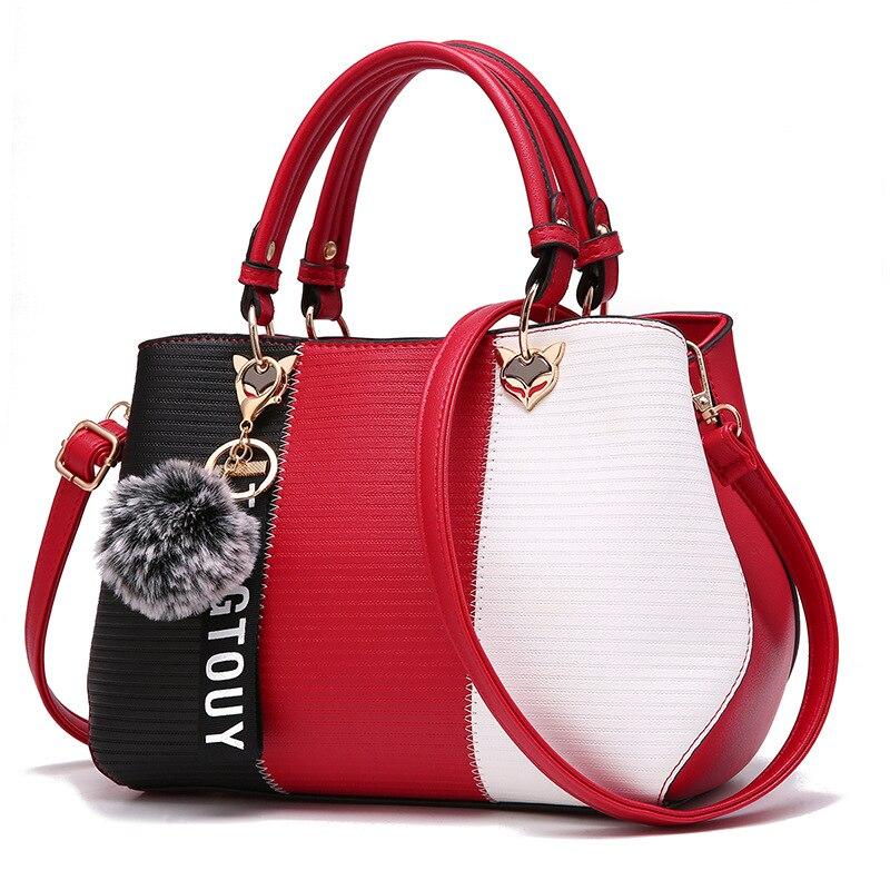 Kvinnor Top Handtag Messenger Bag Patchwork Fashion PU Läder - Handväskor - Foto 2