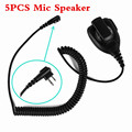 5 pcs Novo Plug M Rainproof 2-Pin Shoulder Speaker Mic Remoto-rophone ptt para motorola rádio pr400 pmr446 mag uma bpr40 a8 EP450