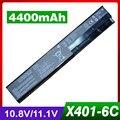 6 celdas de batería portátil para asus a32-x401 a41-x401 s401 s501 s301 x401a a31-x401 a42-x401 x301 x501 f301 f401 f501