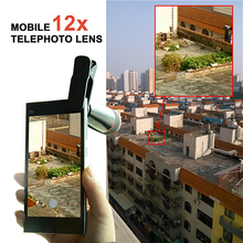 Apexel Universal Mobile Phone Lens 12X Zoom Telephoto Camera Lens with Clip for iPhone