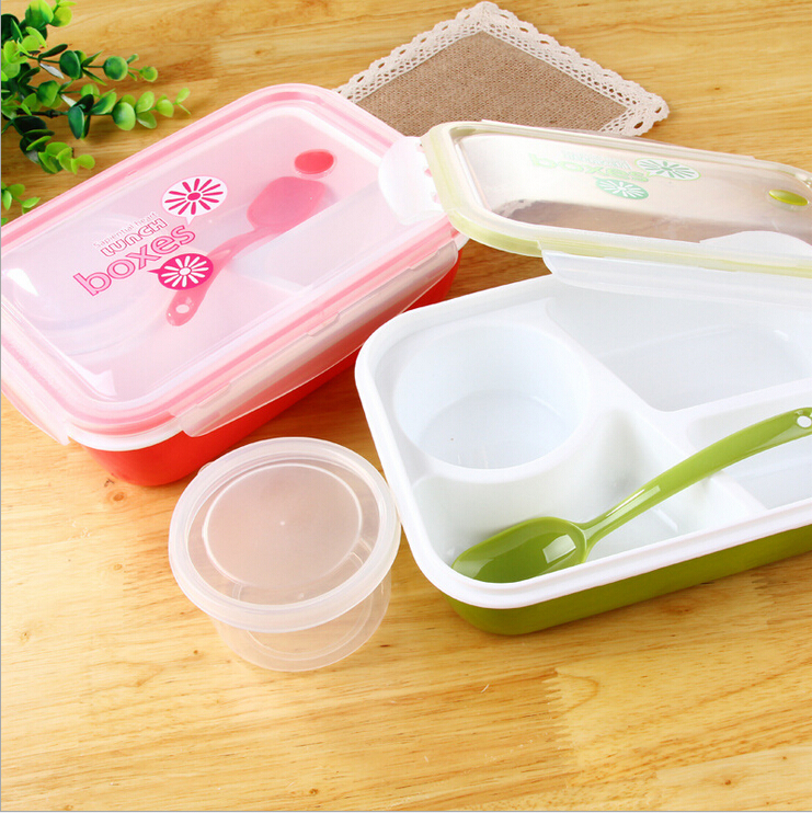 4 compartments plastic bento lunch box for kids lunchbox. Black Bedroom Furniture Sets. Home Design Ideas