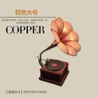 Fabbrica diretta artigianato fatti a mano in metallo Modello Fonografo Personalizzabile Ferro ornamenti gioielli d'epoca