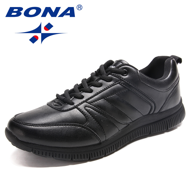 BONA New Arrival Popular Style Men Casual Shoes Lace Up Men Flats Microfiber Men Shoes Comfortable Light Soft Fast Free Shipping 2