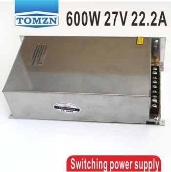 600W 27V 22.2A 220V input Single Output Switching power supply AC to DC