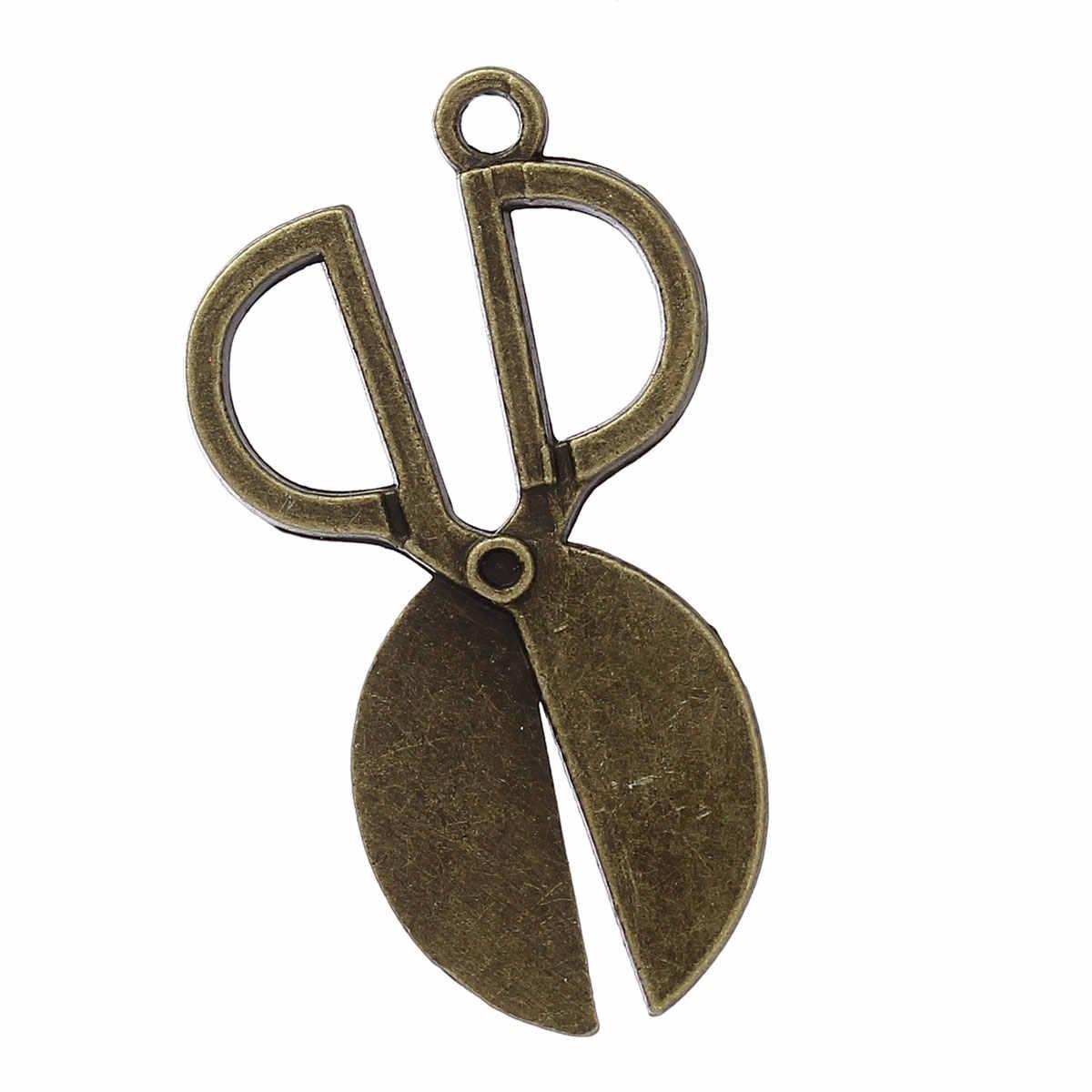 """DoreenBeads hợp kim Kẽm kim loại Charm Mặt Dây Kéo Antique Bronze 36 mét (1 3/8 """") x 20 mét (6/8""""), 1 Piece 2017 mới"""