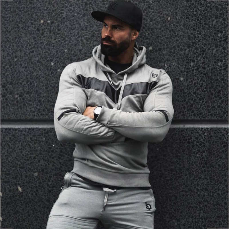 Sport Suit Men Jogging Running Gym Clothing Sweatshirt Male Fitness Bodybuilding Sportswear Mens Hoodied+Pants Jogger Top Sports 4