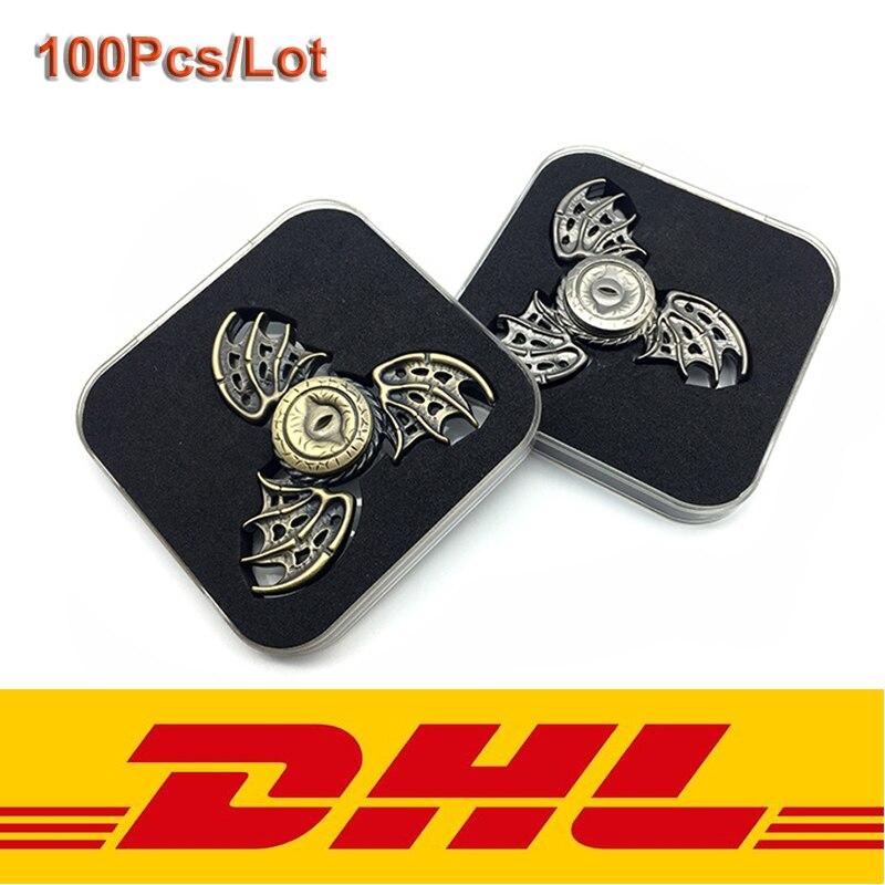 100Pcs Lot EDC Fidget Spinner Fingertip Gyro Zinc Alloy Finger Spinner Hand Spinner Toy For Adult