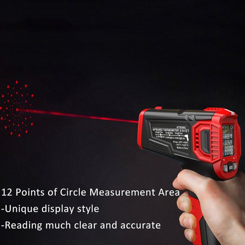 Digital Display Thermometer Humidity Meter Infrared Hygrometer Temperature Pyrometer JDH99