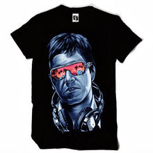 Exclusive Mens T-Shirt - Tony Montana Scarface Design  Man Fashion Round Collar T Shirt Top Tee Chinese Style