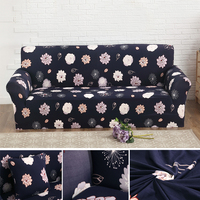 Traditional Chinese Floral Pattern Non Slip Sofa Cover Elastic Stretch Couch Cover Tight Wrap Slipcover 1