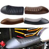 4 Colors Motorcycle Retro Seat Vintage Hump Seat Cafe Racer Saddle For Kawasaki GN Yamaha SR400