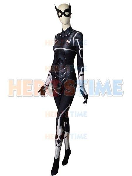 TOP Quality Black Cat Spider-man Costume Costume 3D Print Top Spandex Lycra Cosplay Bodysuit For Adult/ Kids/Custom Made