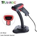 High Sensitive Handheld Portable Laser Barcode Scanner AK18 Wired 2D USB Cable Bar Code Reader for POS System Supermarket