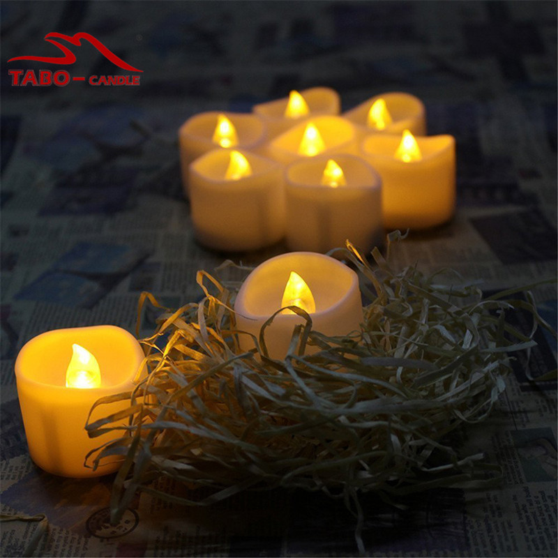 Flickering Flameless LED Tealight Battery Powered Votive Candles for wedding Lights pack of 12