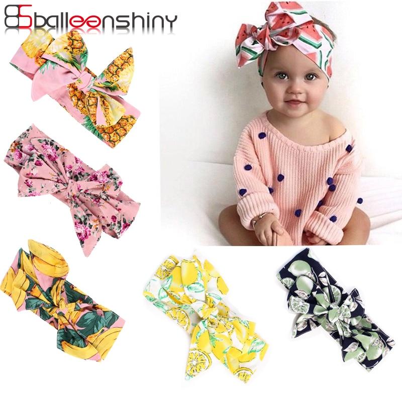 BalleenShiny Baby Headband Ribbon Handmade DIY Infant Kids Hair Accessories Girl Newborn Bows Bowknot Bandage Turban Accessories