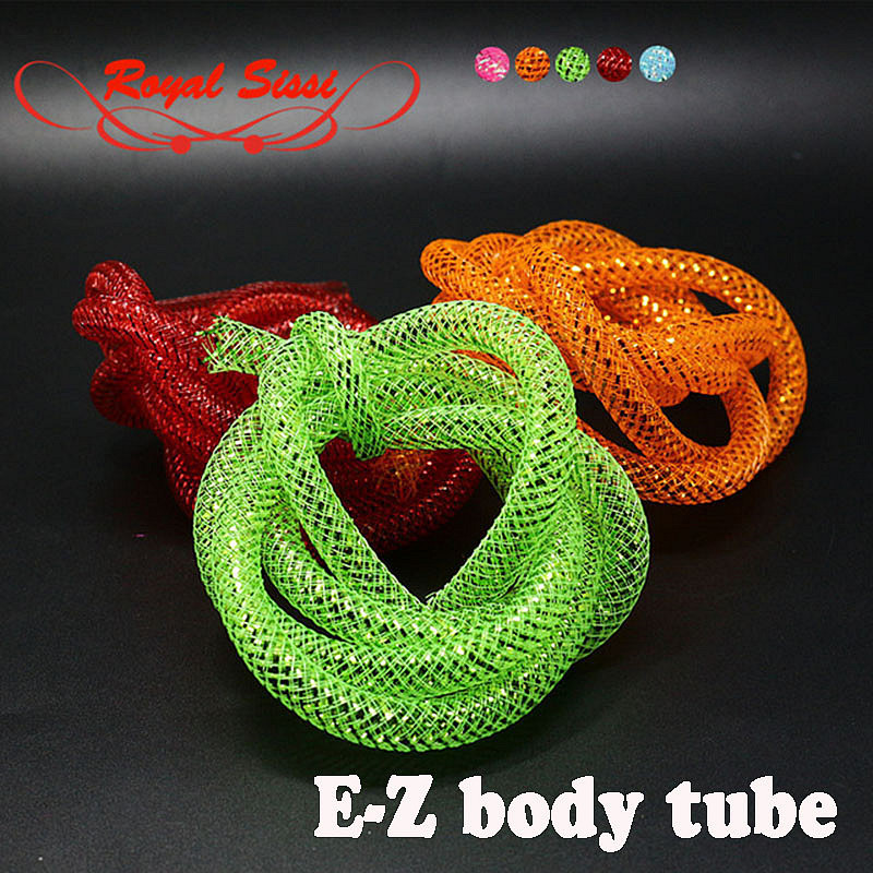 5 Colors Dia 8mmE Z BODY TUBING Iridescent Tubing Mylar Minnow Bodies Fly Tying Materials Braid Tube for Larger Streamer Pattern