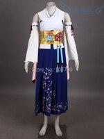 Final Fantasy X Юна Хэллоуин Рождество COS аниме Косплэй Костюм Униформа унисекс назад к основам вызова Костюмы