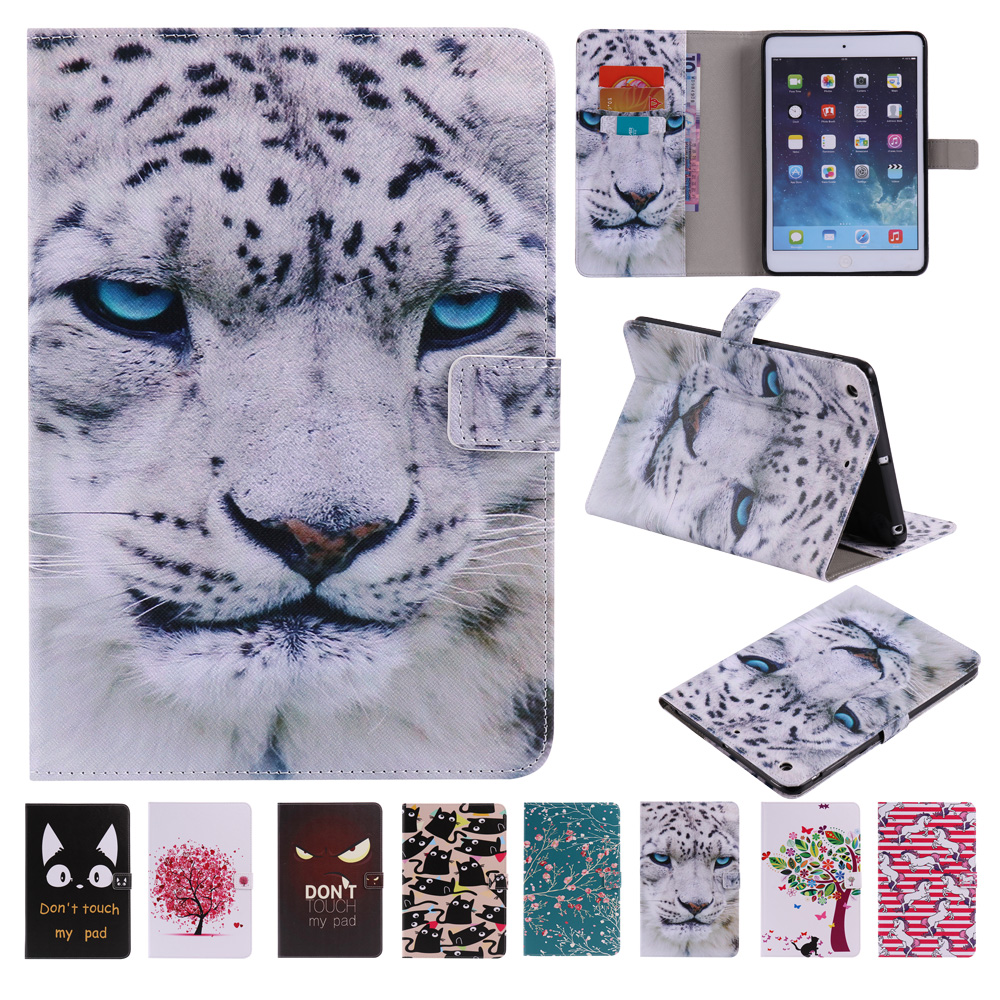 New PU Leather Flip Case For Apple iPad Mini Case Women Stand Wallet Smart Cover for iPad mini3 2 1 Coque Sleep Wake Up Function stand ultra thin pu leather case for apple ipad mini 1 2 3 case colorful flip tablet smart cover auto sleep wake up magnet