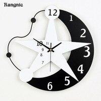 Rangnic Creative Star Wall Clock Decorative Modern Design Home Decor Living room/Kid room duvar saati Watch Wall reloj pared