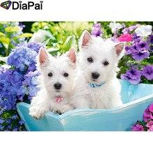 DIAPAI 5D DIY Diamond Painting 100% Full Square/Round Drill Animal dog flower Diamond Embroidery Cross Stitch 3D Decor A21976 diapai 100