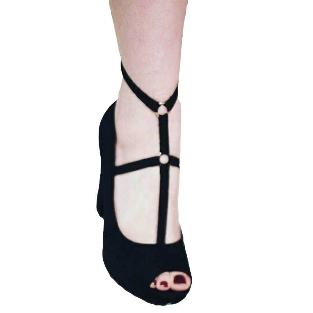Effen Kleur Bandage Zachte Mode Enkelband Vrouwen Barefoot Beach Accessoire Decor schoen inserts
