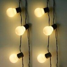 Солнечное освещение для сада Наружное освещение забор задний двор патио гирлянды 10 20 светодиодный Глобус фестон вечерние шары рождественские огни