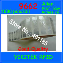 Alien authoried 9662 1000pcs per roll Wet inlay sticker UHF RFID 860-960MHZ Higgs3 EPC C1G2 ISO18000-6C can be used for RFID tag